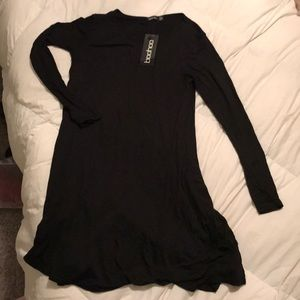 Boohoo Black Lucibasic Swing Dress
